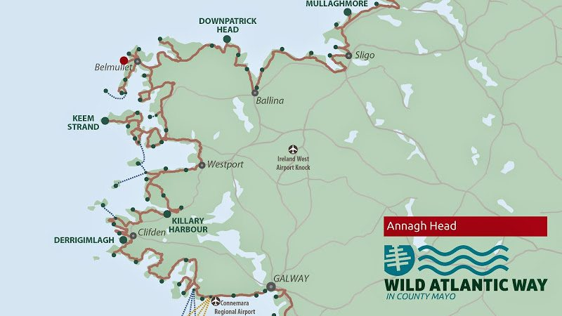 Annagh Head, Mayo, Wild Atlantic Way Map Map