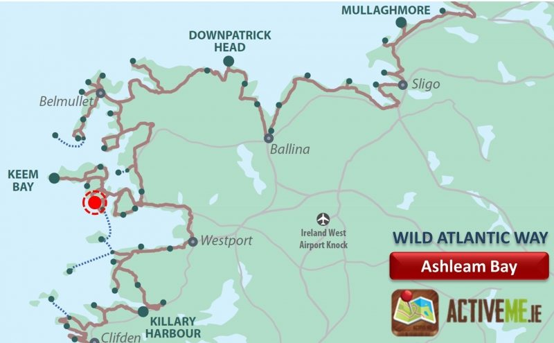 Ashleam Bay, Achill Island, Co Mayo, Wild Atlantic Way Map, Discovery Point, Ireland ActiveMe Travel Guide