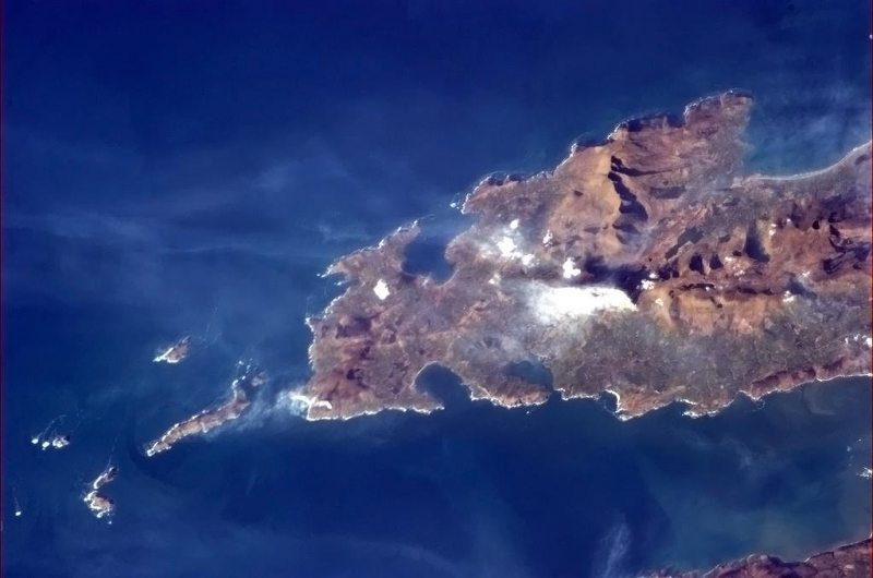 Dingle bay from Space, Co. Kerry, Wild Atlantic Way, Ireland by Col Chris Hadfield