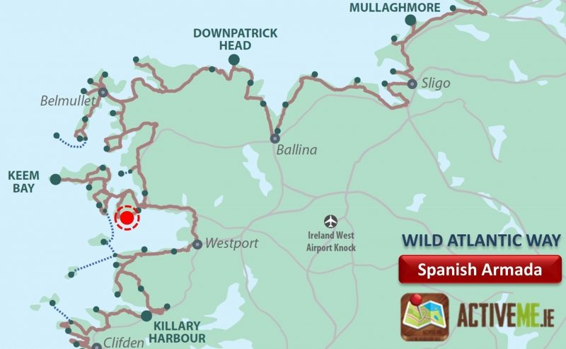 Spanish Armada Viewpoint, Achill Island, Co Mayo, Wild Atlantic Way Map, Discovery Point, Ireland ActiveMe Travel Guide