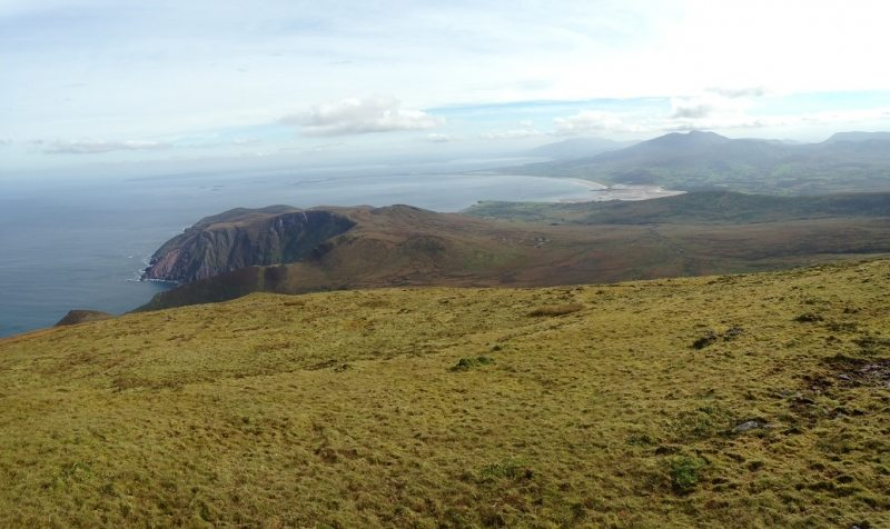 View from summit of Mas an Tiompain, Cloghane, Dingle Peninsula, Co. Kerry, Wild Atlantic Way, Ireland