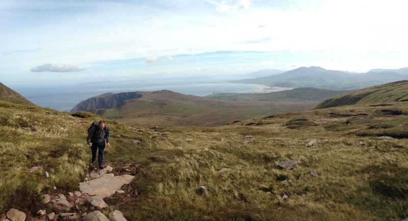 View from the Mas, Brandon Mtns, Dingle Peninsula, Co. Kerry, Wild Atlantic Way, Ireland