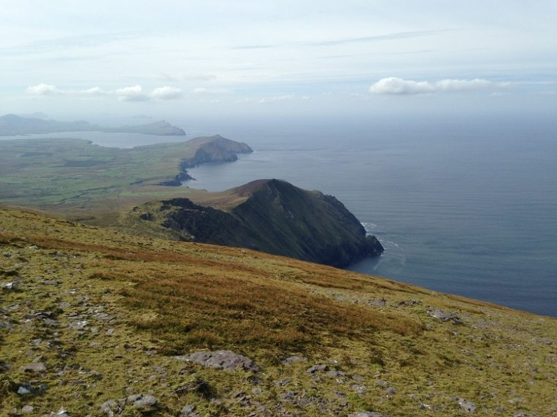 View west to Blasket Islands from the summit of Mas,Brandon Mtns, Co. Kerry, Wild Atlantic Way, Ireland