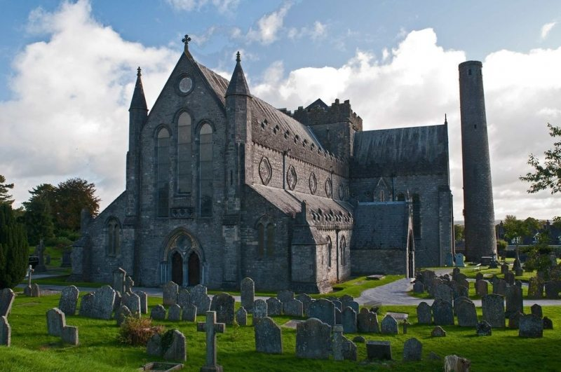 St Canice's Cathedral and Round Tower, Kilkenny City, Ireland Ancient East