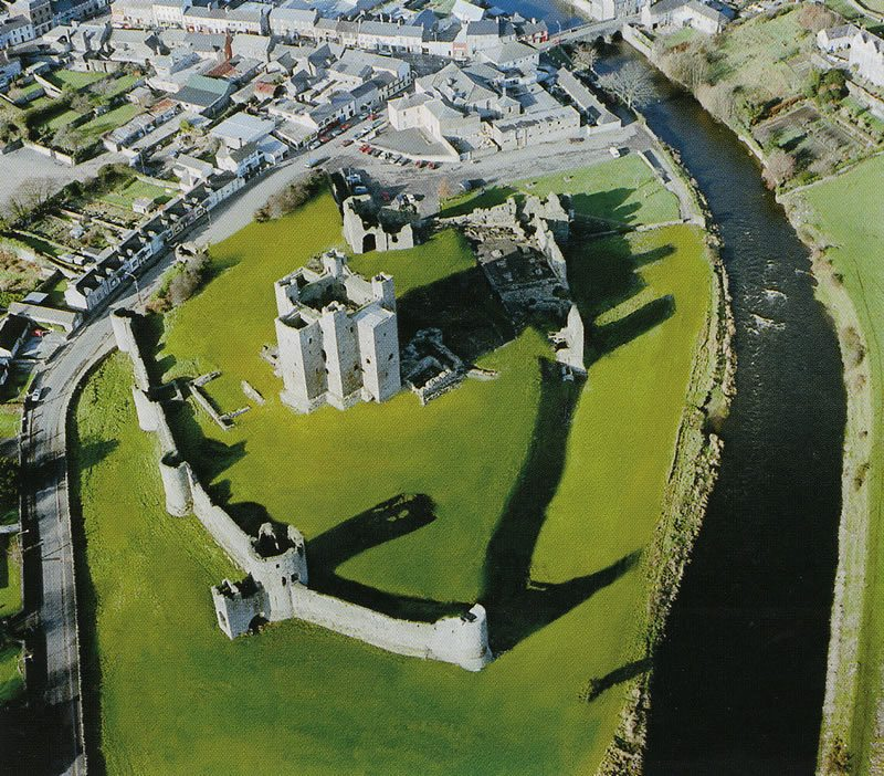 Trim Castle Aerial Photo County Meath River Boyne, Ireland Ancient East