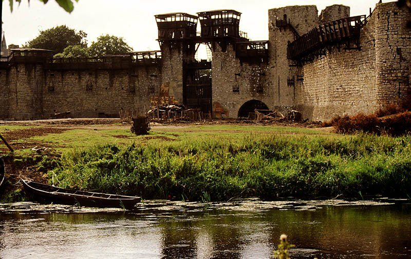 Trim Castle County Meath after Braveheart filming as York Fortified Town, Ireland Ancient East