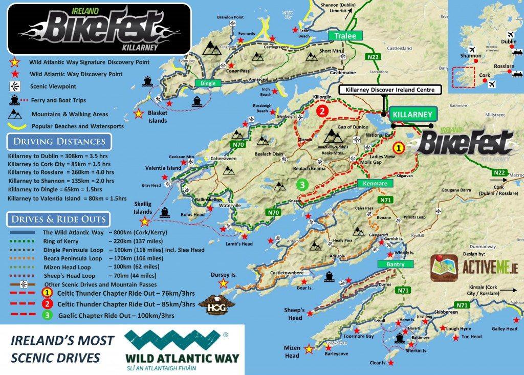 Map Of Ireland Kenmare.Bikefest 75km Ride Out Kenmare Loop Killarney Co Kerry Wild