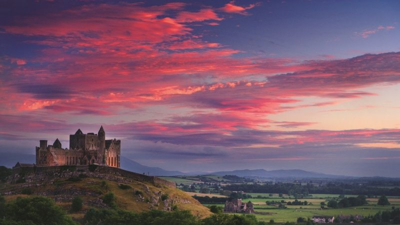 Rock of Cashel, Ancient seat of King of Munster, Co. Tipperary, Munster Vales in Irelands Ancient East