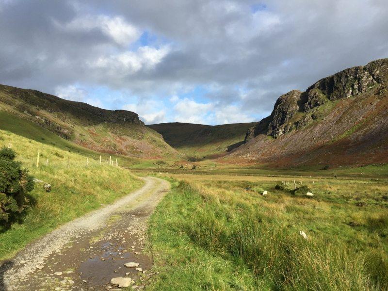 Annascaul Lake Valley Walking Route near Tralee, Co Kerry on the Wild Atlantic Way