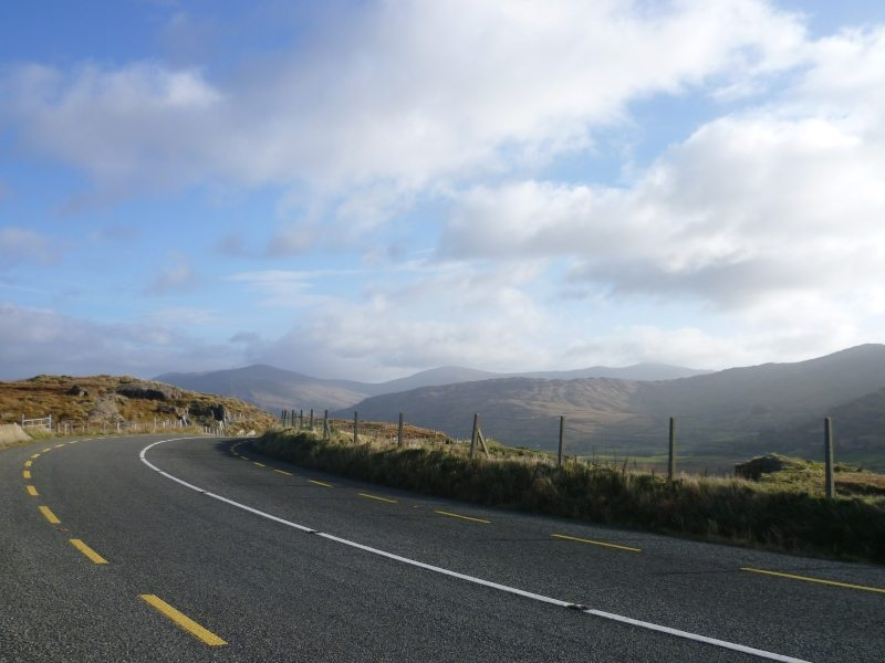 Caha Mountain Pass with Barrarneen Mtn 458m and Bonane village