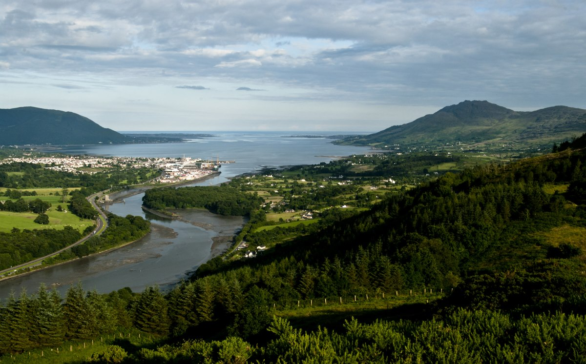 Carlingford Lough from the Cooley Peninsula Scenic Drive, Louth, Ireland