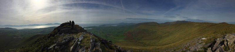 Croaghskearda Ridge with view over Dingle Bay on the Wild Atlantic Way