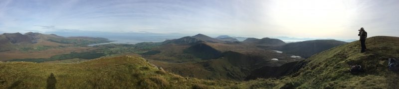 View north from Houlihans Bean and Slievanea above Conor Pass, Wild Atlantic Way