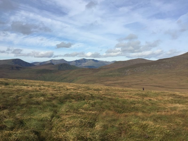 View west Near Cú Chulainns House toward Brandon Mountain on Irelands highest and most remote valley floor
