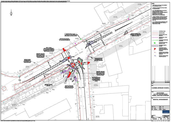 Coakley Consulting Engineers Signal Junction Upgrade Design Layout MOVA Pedestrian Crossing,Traffic, Transport, TIA, TTA, Roads, Safety, Parking, Junction, Design