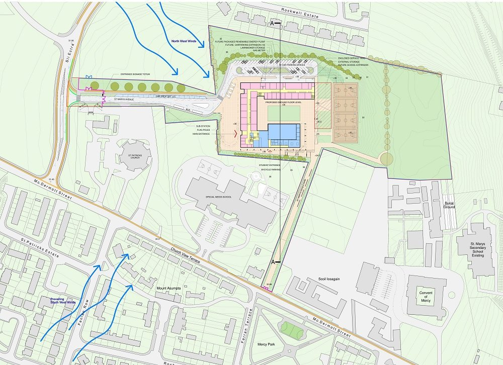School Ballina Coakley Consulting Engineers Development Planning Traffic Transport Impact Assessment Report Shopping Centre Mixed Use, Roundabout, TIA, TTA, Parking, Junction, Design