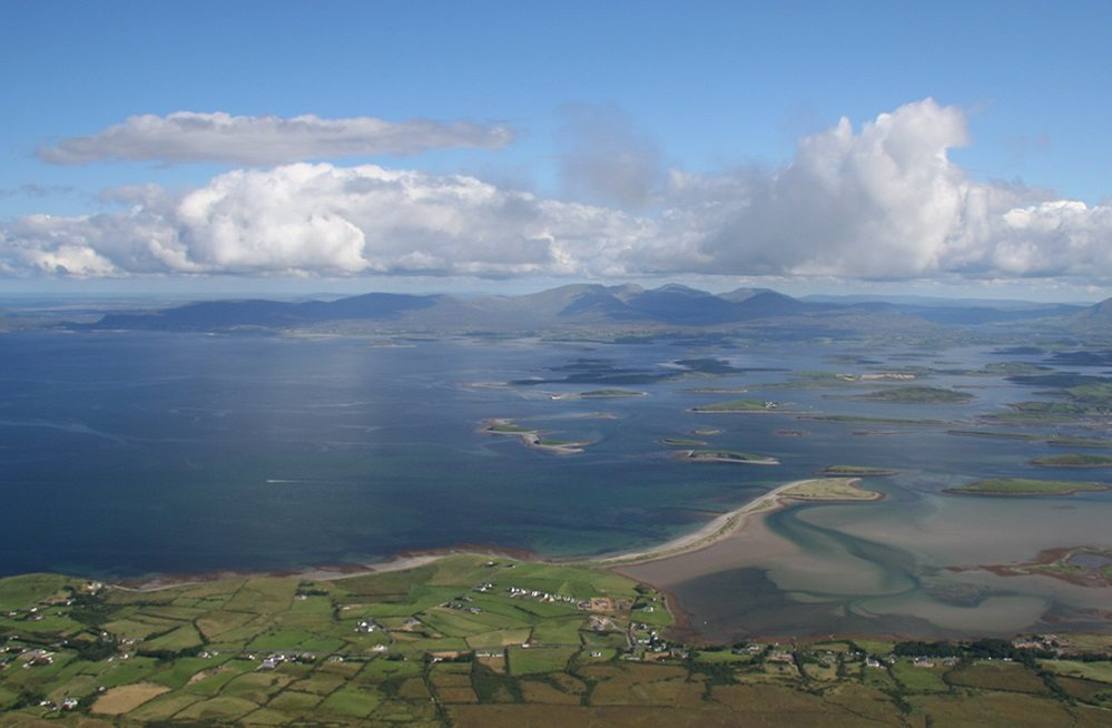 View of Clew Bay from Croagh Patrick, Westport, Co. Mayo, Wild Atlantic Way